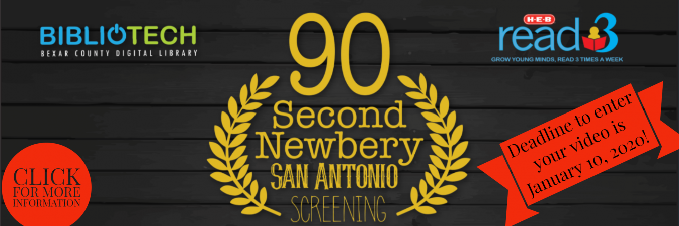 Deadline to enter our 90 Second Newbery contest is 1/10/20