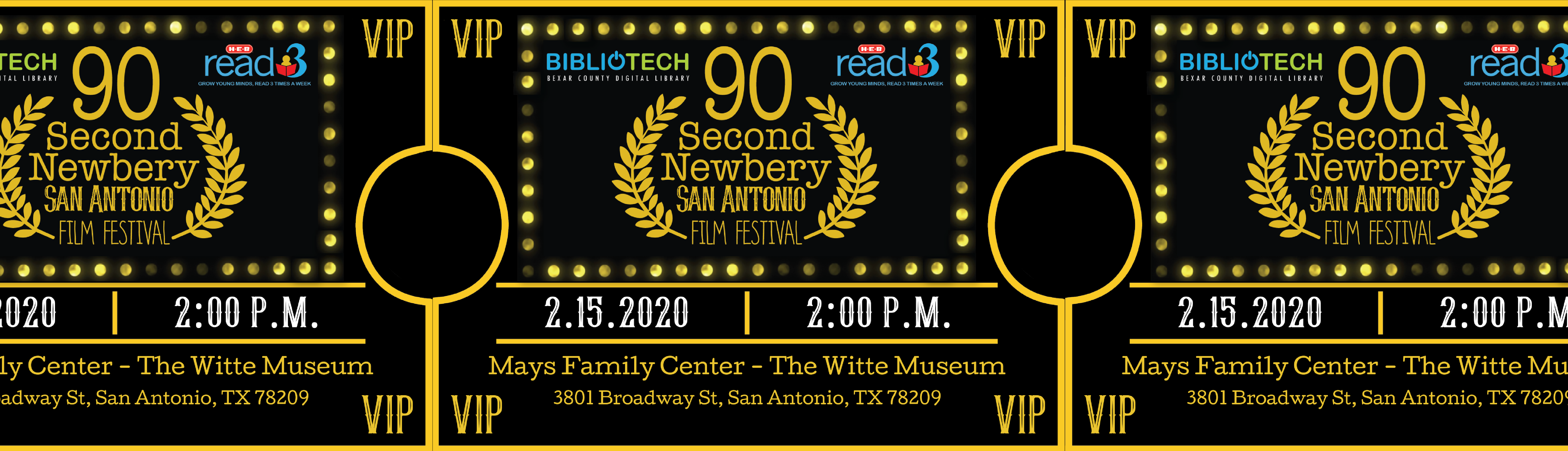 90-Second Newbery Film Festival will be held on Feb. 15 at 2pm at the Witte Museum. All are welcome!
