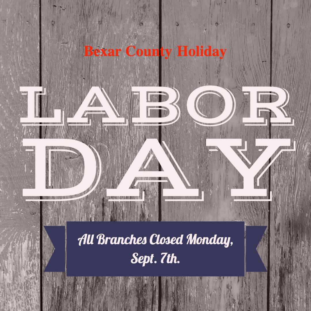 All BiblioTech Branches closed for Labor Day