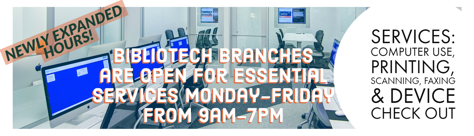 Branch locations now open 9am-7pm, Monday - Friday