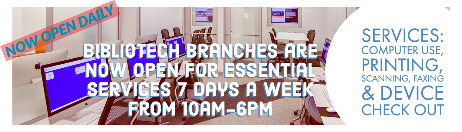 All Branches Now Open Daily, 10am-6pm