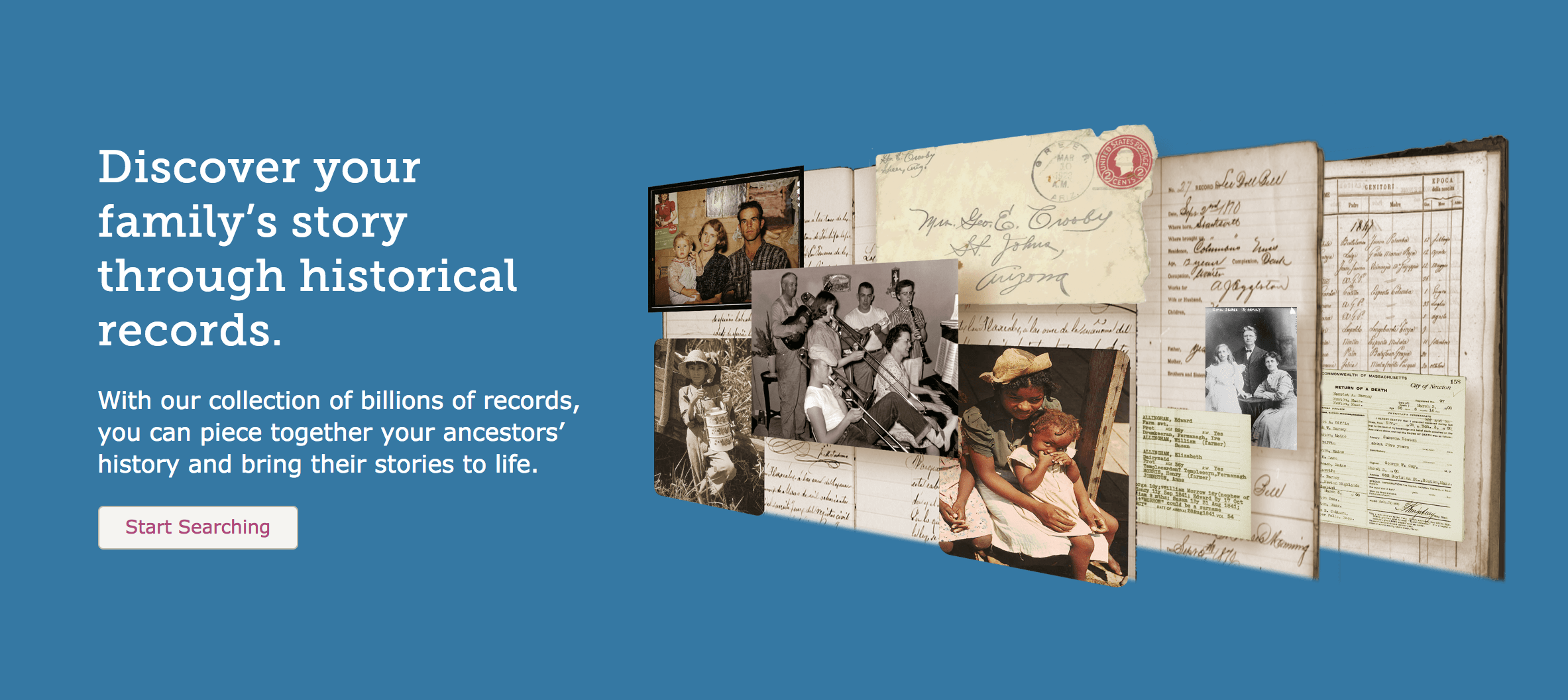 Discover your family's story through historical records.