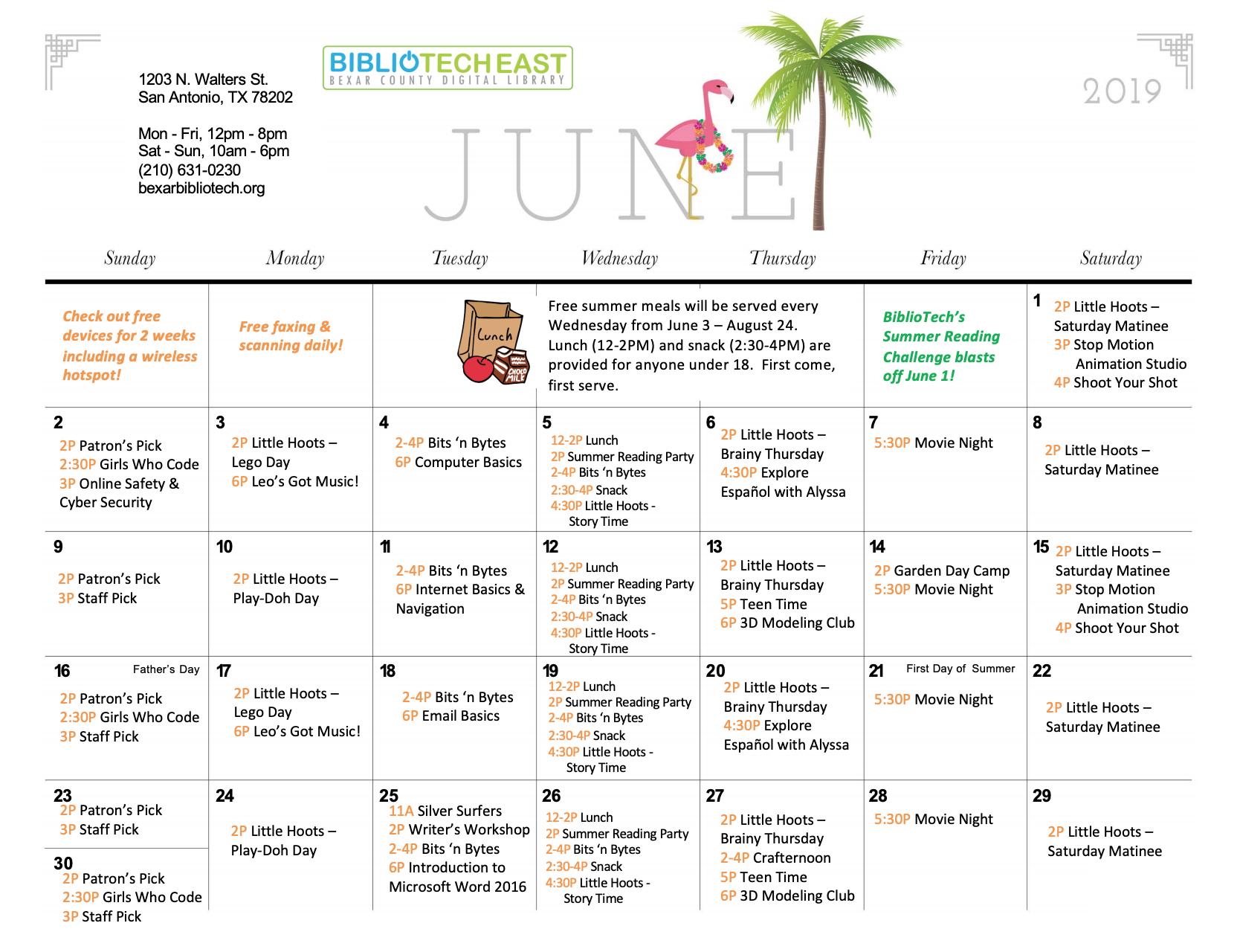 June Calendar of Events