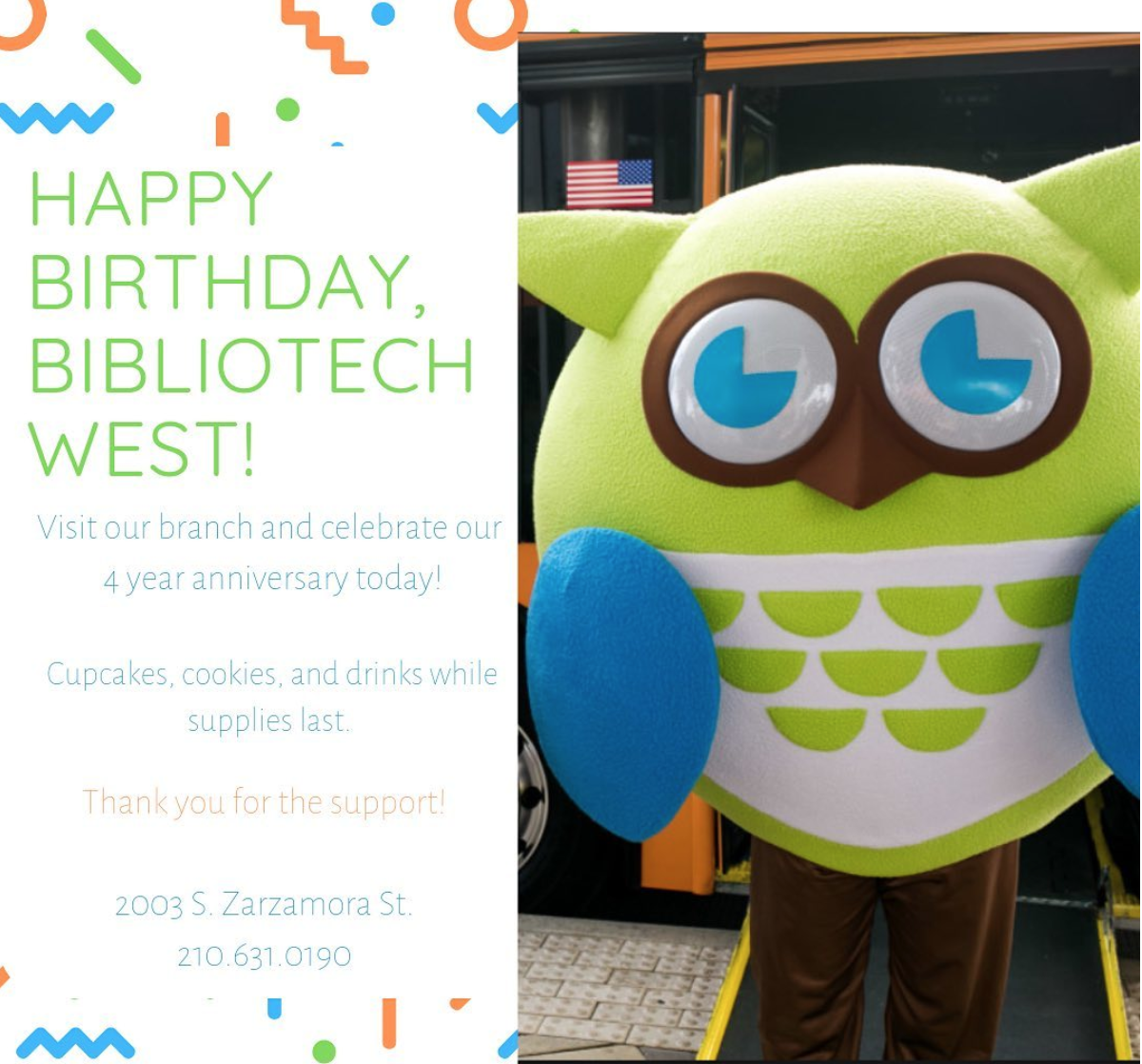 Happy Birthday BiblioTech West!