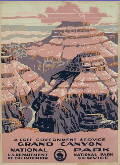 Historical poster of the Grand Canyon