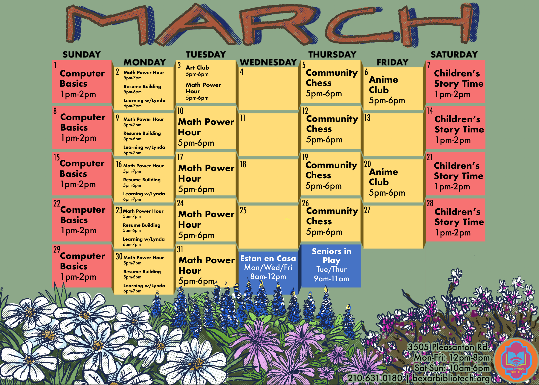 South March Calendar