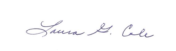 Laura G. Cole Signature
