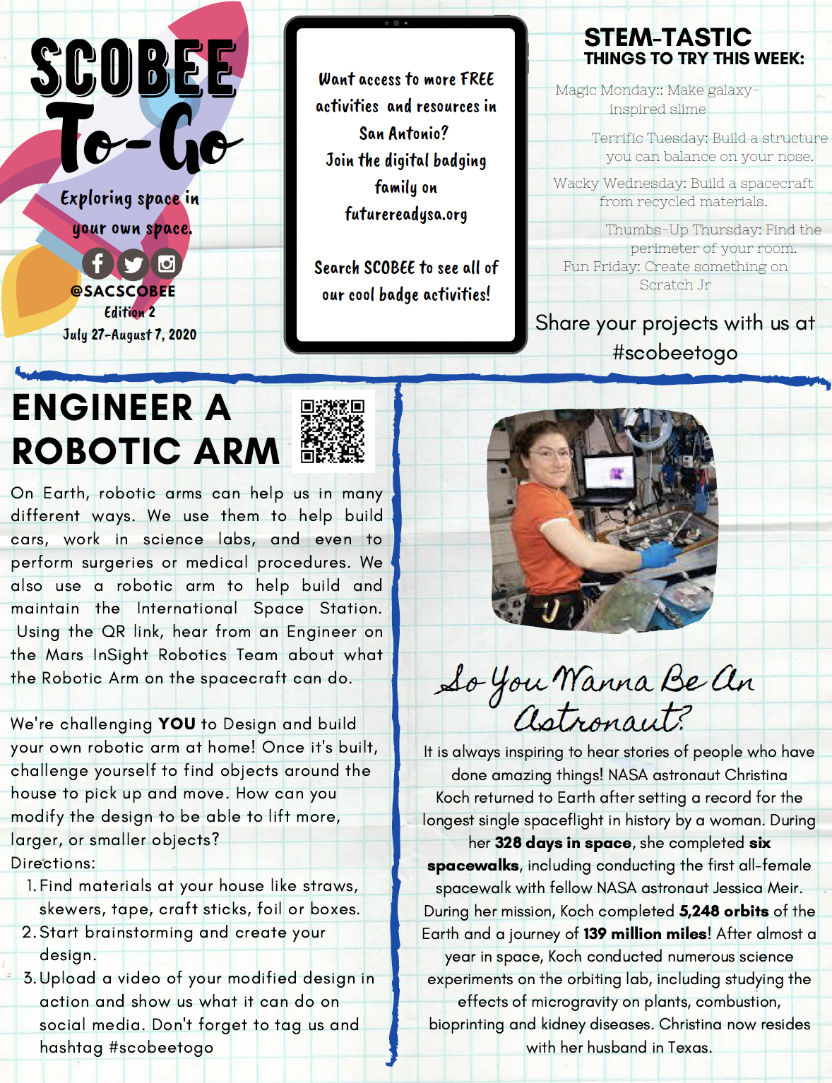 Scobee To-Go Newsletter Image