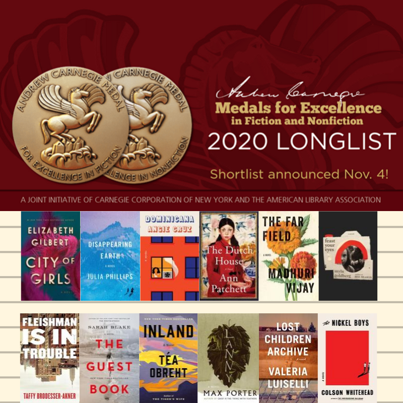 Longlist for 2020 Carnegie Medals