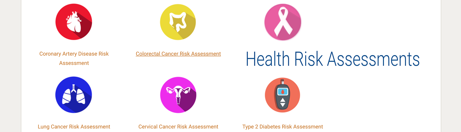 Health Risk Assessments Website
